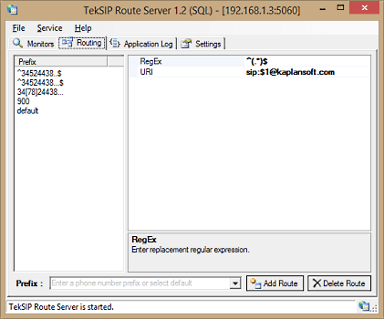 TekSIP Route Server