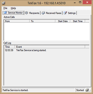 TekFax screenshot