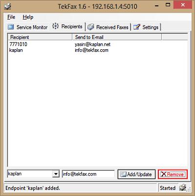TekFax screenshot